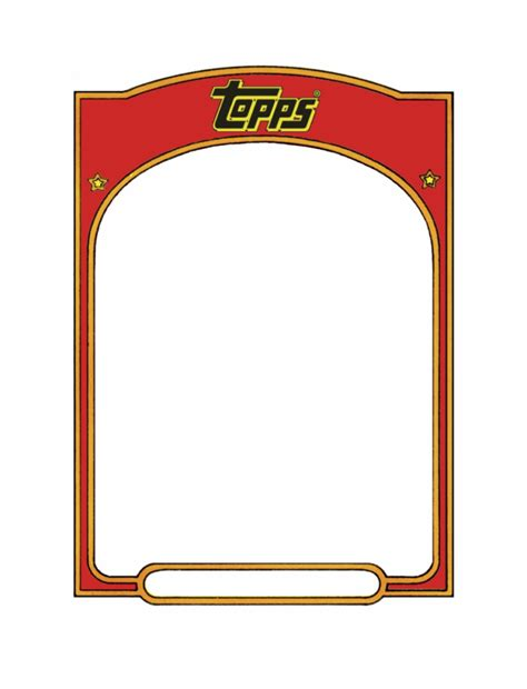 Wanting to know how much your baseball cards are worth? Baseball Card Template Sports Trading Card Templet - Topps with Baseball Card Size Template ...