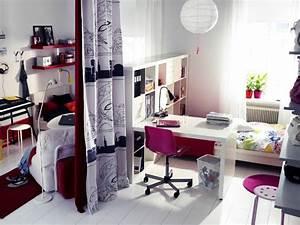 Chambre Ado Fille Ikea : ikea chambre ado photo 2 5 avec une chaise de bureau sur roulettes ~ Teatrodelosmanantiales.com Idées de Décoration
