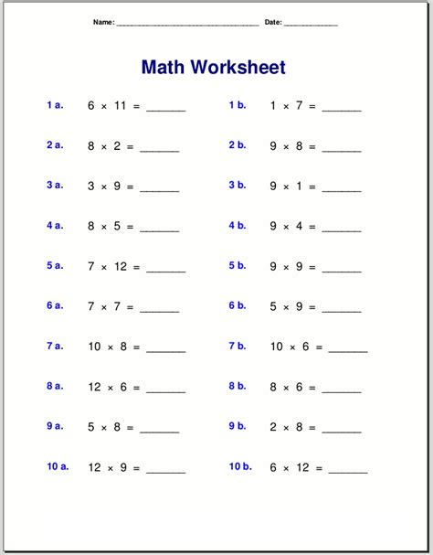 Math Quiz Worksheets To Print  Activity Shelter