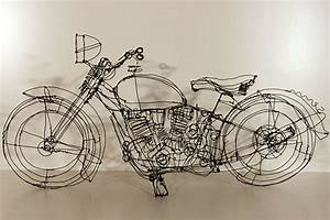 Playful Three-dimensional Wire Sculptures