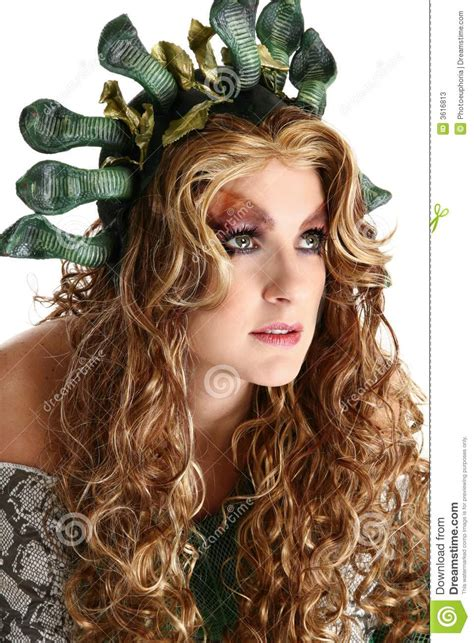 medusa stock image image  halloween person role