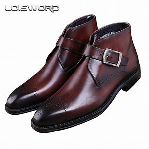 LOISWORD Fashion Goodyear Welt shoes Brown tan / black ...
