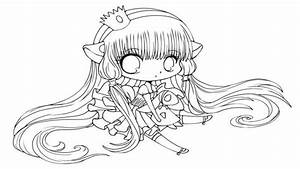 Easy Chibi Couple Coloring Cute Girl Pages - grig3.org