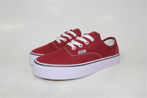 jual sepatu vans authentic maroon merah marun waffle icc diskon di lapak bayu allshop
