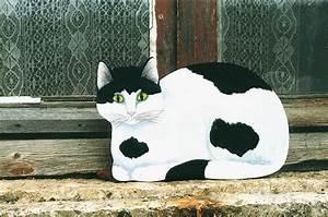 Decoupe Bois En Ligne : chat au bord de la fen tre peinture sur bois d coup ~ Dailycaller-alerts.com Idées de Décoration