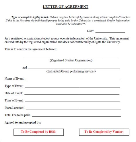 letter  agreement    documents   word