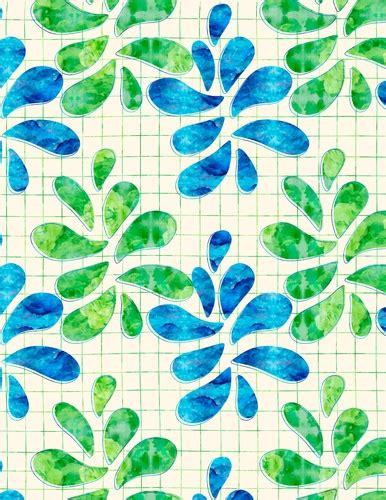 Blue & Green Watercolors Water Drops Design A4 Size