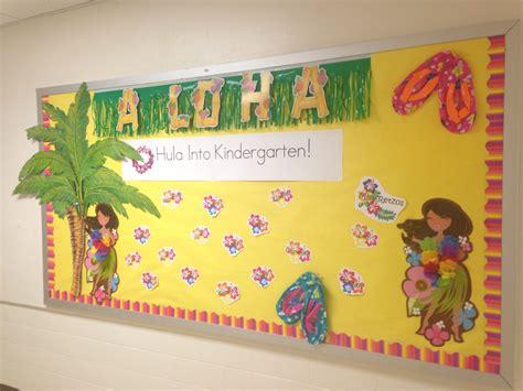 hawaiian themed welcome back to school board bulletin 285   7c203be67c57700dca256f6463ddb781