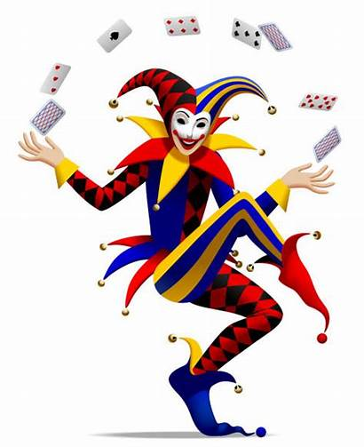 Joker Jester Playing Cards Vector Drawing Illustration