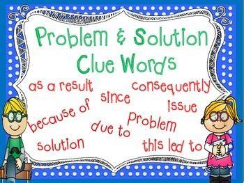 problem solution nonfiction text structure  teaching