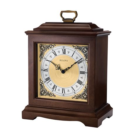 Bulova Table Clock Westminster Ave by Exeter Traditional Bracket Mantel Clock Bulova B1512