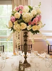 Rose And Hydrangea Topiary Style Centerpiece Elizabeth