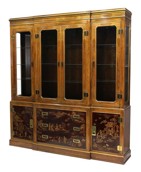 Breakfront China Cabinet Plans by Drexel Heritage Breakfront China Cabinet