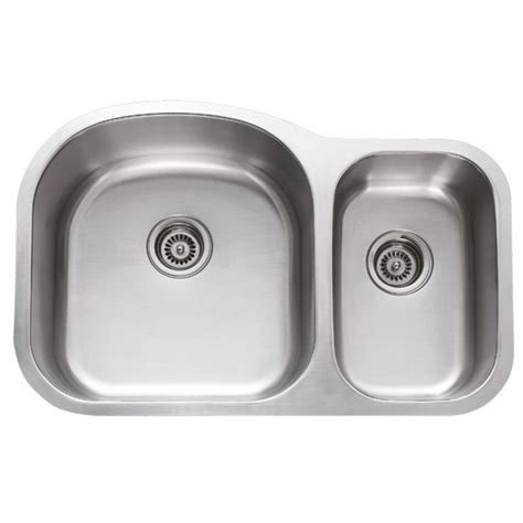 undermount kitchen sink stainless 31 inch stainless steel undermount 70 30 bowl 6592