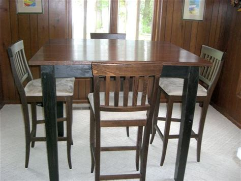 public white 42 high dining table amazing 42 pub table and chairs custom built inch bar