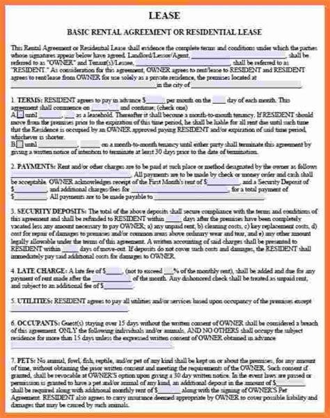 rental lease agreement  marital settlements