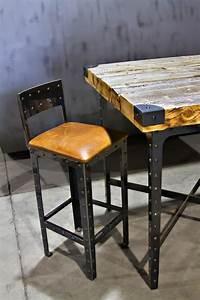Table Bar But : hand made industrial pub height table bar stools by basin custom ~ Teatrodelosmanantiales.com Idées de Décoration
