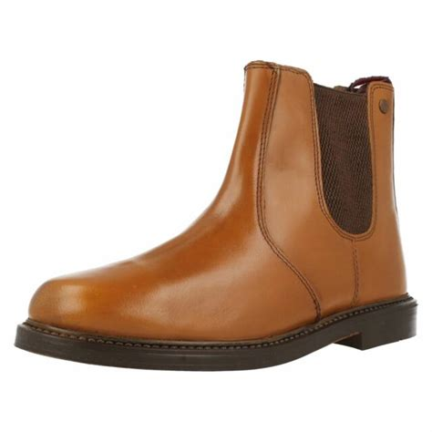 Mens HX London HX05 Tan Leather Chunky Chelsea Boots | eBay