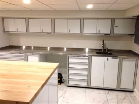 Garage Cabinets And Countertops proii stainless steel garage countertops moduline