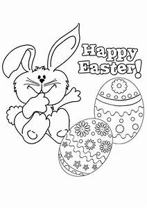Free Online Happy Easter 2 Colouring Page - Kids Activity ...