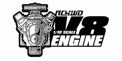 V8 Engine Rc4wd Scale Motor Trail Rc