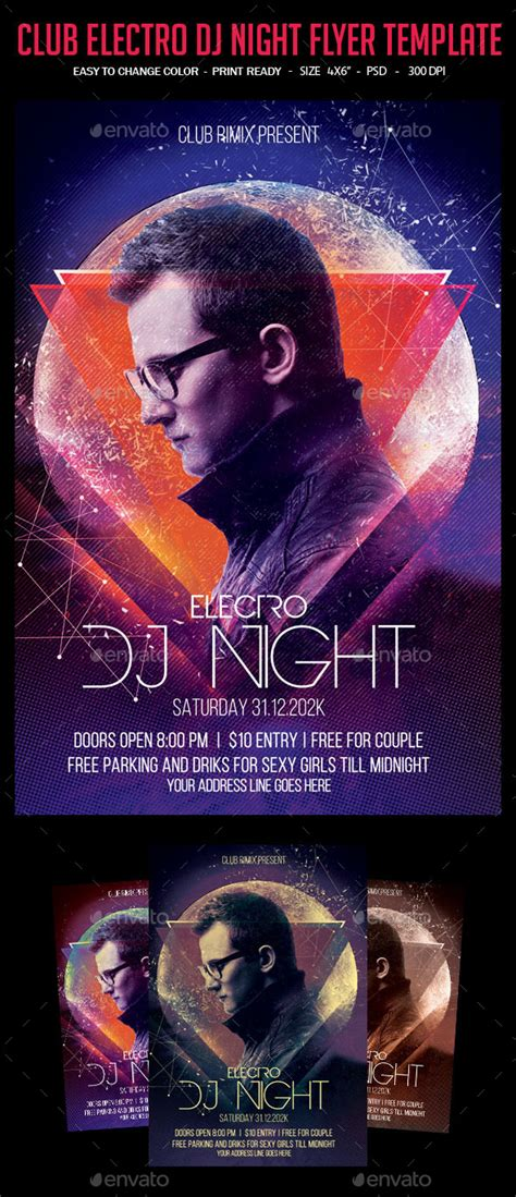 download graphicriver electro dj party flyer template 6502526 print template graphicriver club electro dj night flyer