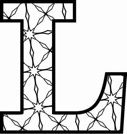 Letters Alphabet Printable Coloring Pages Patterns Colouring