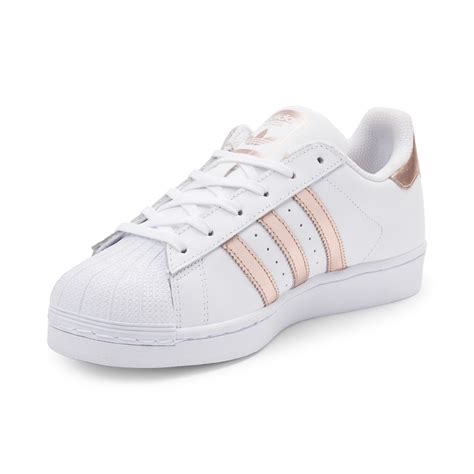 adidas superstar rose gold stripes