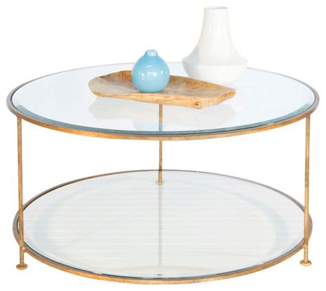 gold glass top coffee table worlds away gold leaf iron round coffee table with beveled