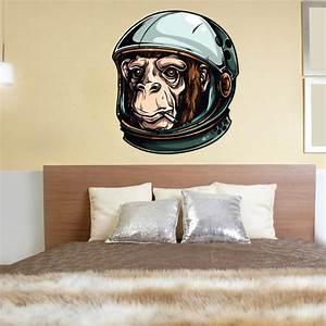 Smoking Monkey Astronaut Wall Decal - Vinyl Car Sticker - 1