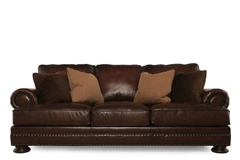 Bernhardt Sofa by Bernhardt Foster Leather Sofa Mathis Brothers Furniture