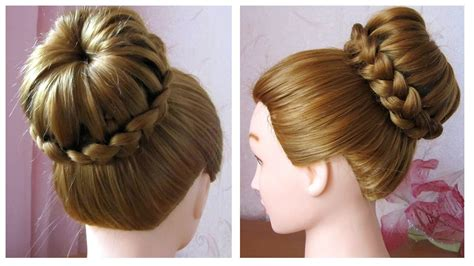 chignon pour cheveux long modele de coiffure pour cheveux
