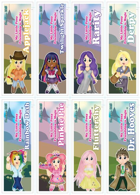 My Little Pony Bookmarks By Dannimondesigns On Deviantart