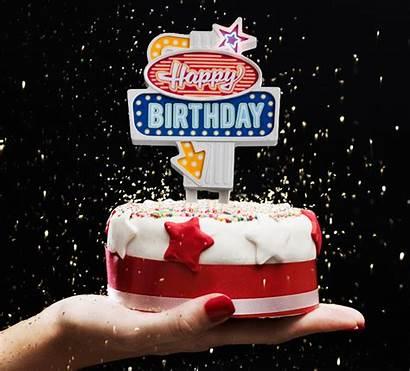 Birthday Happy Cake Retro Flashing Head Xl