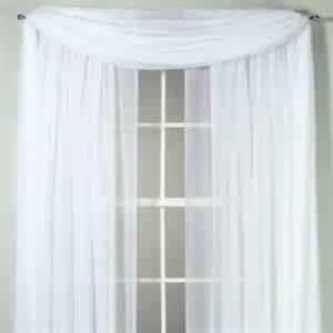 voile 108 inch sheer rod pocket panel in white