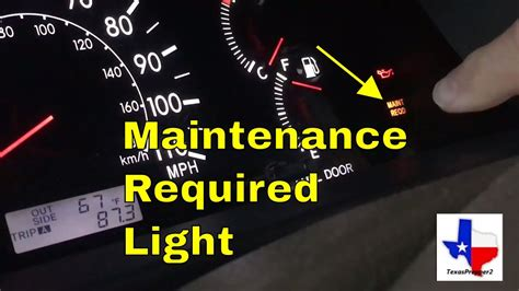 reset  maintenance required light  toyota