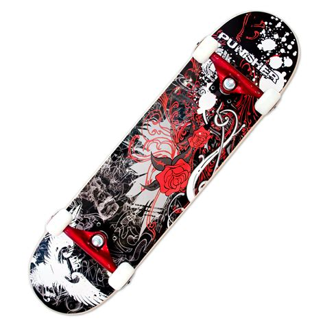 Amazon.com : Punisher Skateboards Rose Complete 31-Inch