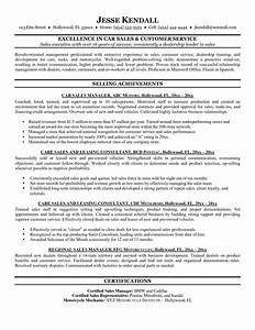 resume template examples sales senior executive car with With sample resume for automobile sales executive