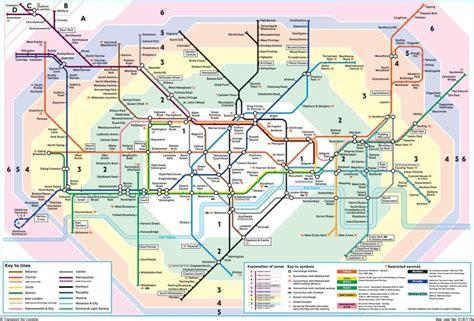 London Underground Map Zones 1 6 robetyy24 london