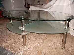 3 tier frosted and clear glass coffee table newport for Three tier glass coffee table