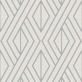Geometric Wallpaper White and Silver Pear Tree UK30509