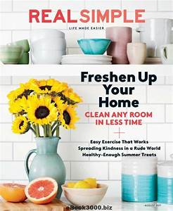 Real Simple - August 2017 Free PDF Magazine Download