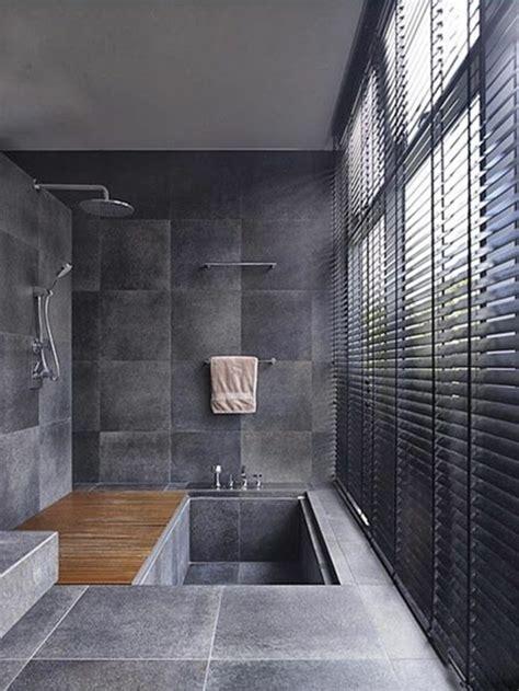 une salle de bains grise elegance  chic contemporain