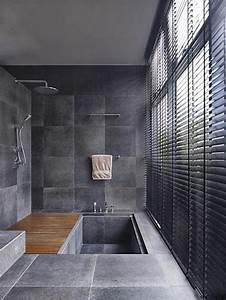 une salle de bains grise elegance et chic contemporain With salle de bain contemporaine grise