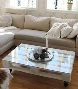 Table Basse Palettes : photo table basse en palettes en bois ~ Melissatoandfro.com Idées de Décoration