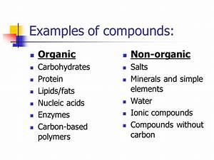 The Components of Life Organic Chemistry. - ppt download