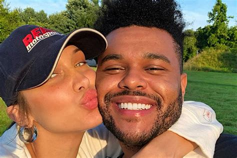The weeknd gained widespread critical acclaim for his three mixtapes, house of balloons, thursday the weeknd released two songs in collaboration with the film fifty shades of grey, with earned it. The Weeknd Wishes Girlfriend Bella Hadid Happy Birthday - XXL