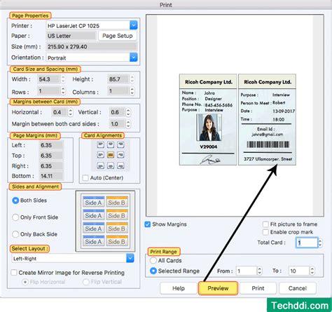 screenshots  visitors id cards maker  mac design