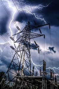 High Voltage And Storm Free Stock Photo