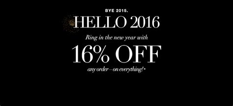 Ring In The New Year! 16% Off Sitewide On Any Order- On